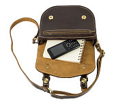 http://www.istockphoto.com/photo/phone-and-note-book-on-leather-bags-on-white-background-gm682658240-126320935