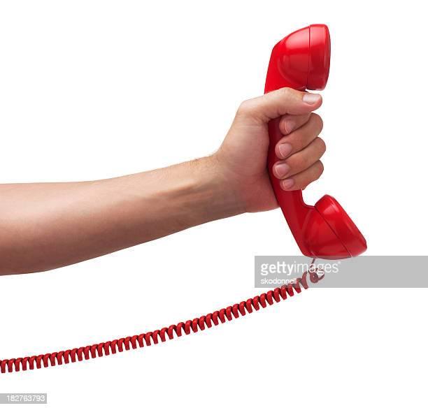 Phone Call on White
