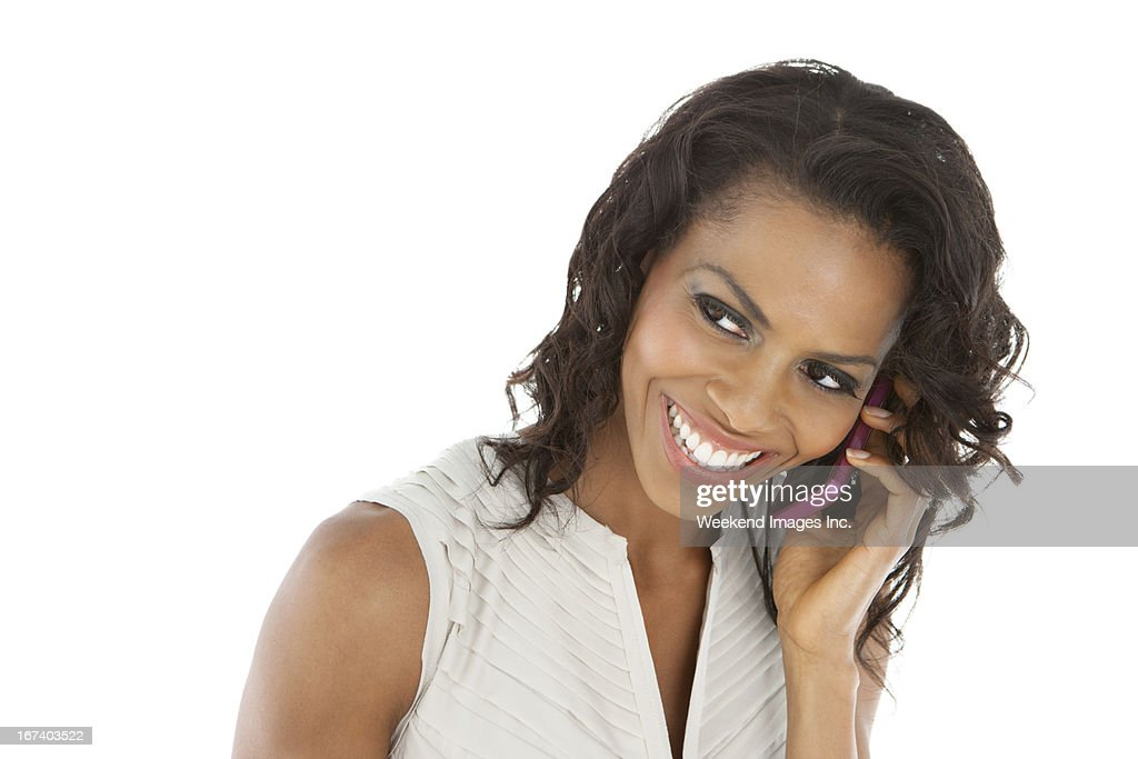 Phone conversation : Bildbanksbilder