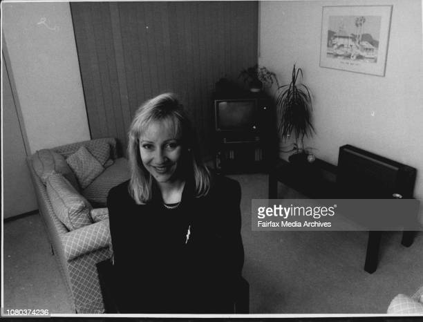 Phone in On 'What Women Hate about Mens Habits'Pictured is Adrienne Willis of Cammeray in her lovely clean living room April 30 1991