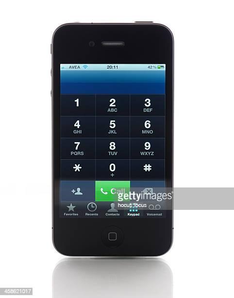 Phone keyboard on iPhone 4