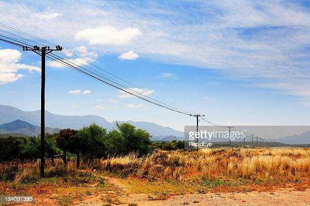 phone lines in rural africa - south africa stock pictures, royalty-free photos & images