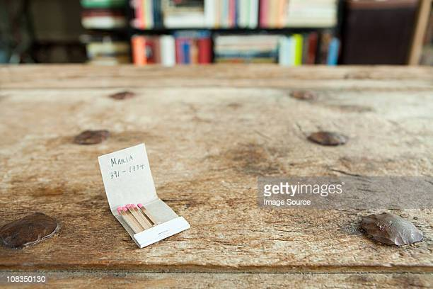phone number on a matchbook - telephone number stock pictures, royalty-free photos & images