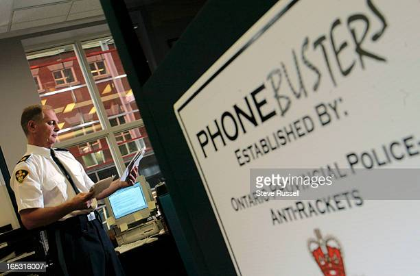 PHONEBUSTERS10/30/02Barry Elliott heads up Phonebusters an international call centre in North Bay that takes complaints from around the globe on...