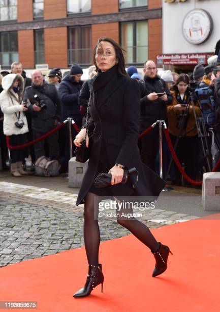 Phong Lan Truong during the memorial service for Jan Fedder at Hamburger Michel on January 14 2020 in Hamburg Germany German actor Jan Fedder was...