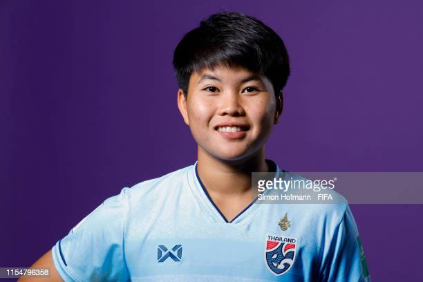 Phonpirun Philawan of Thailand poses for a portrait during the official FIFA Women's World Cup 2019 portrait session at Grand Hotel Continental on...
