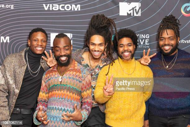 Phony Ppl band members attend MTV Staying Alive Foundation Gala at Guastavino's