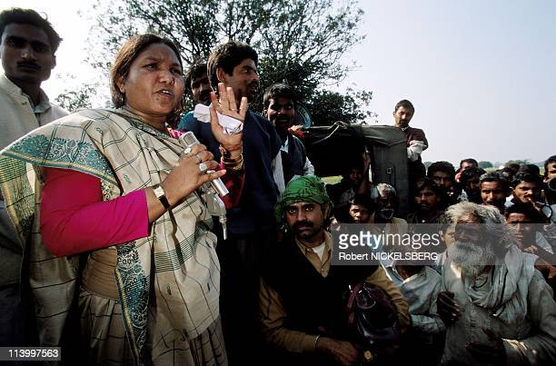 Phoolan Devi in Campaign for Legislatives Elections In India In February 1998