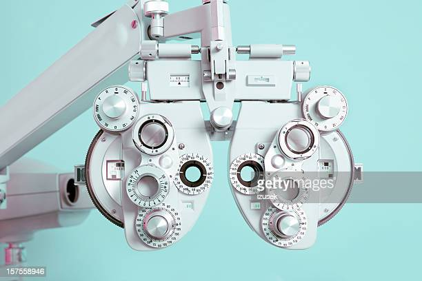 phoroptor close up - optometry stock pictures, royalty-free photos & images