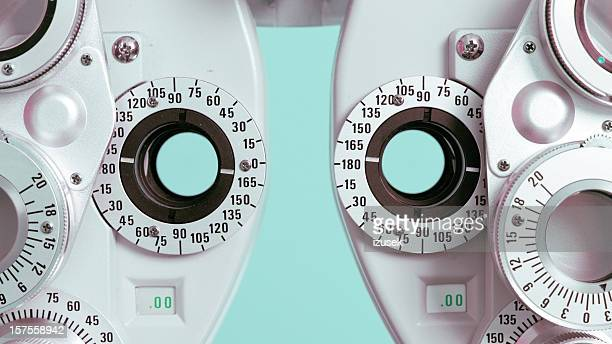 phoroptor detail - lens optical instrument stock pictures, royalty-free photos & images