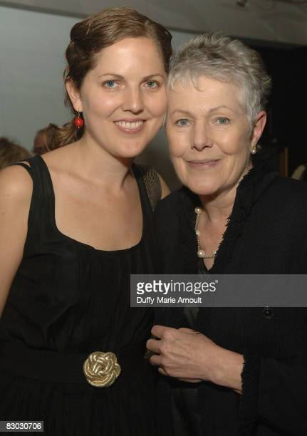 """Photgrapher Annabel Clark and Actress Lynn Redgrave attend the """"Rights of Passage"""" exhibition opening at The National Arts Club on September 26, 2008..."""