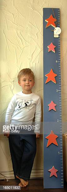 Photo 121728 17 Apr 06 . Planet Kid kidswear, Henry Fillmore modelling t-shirt and jeans, also group with Davey and Ben Dunsky, 7 and 10, their mom...