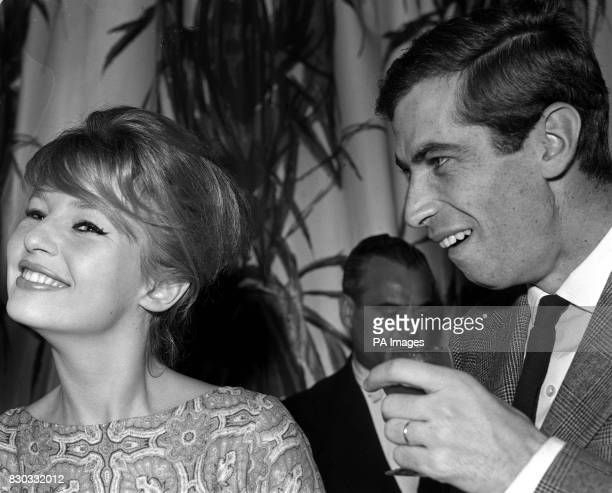 PA Photo Film director Roger Vadim with his wife Danishborn actress Annette Stroyberg at London's Savoy Hotel during a reception given by film...