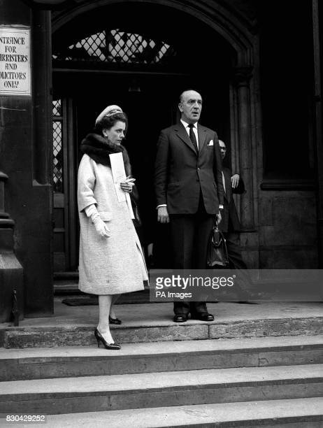 The Duchess of Argyll pictured in London after the hearing of the High Court action in which it is alleged that she detained many Argyll heirlooms at...