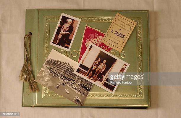 Photo album and old photos of Paris photographed in the Los Angeles Times via Getty Images photo studio Thursday afternoon in downtown LA