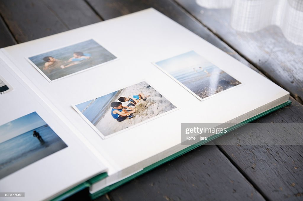 photo album of brothers : Stock Photo