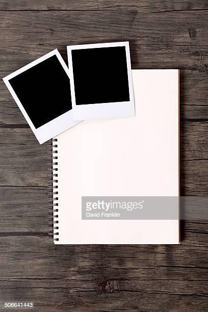 Photo album with blank prints
