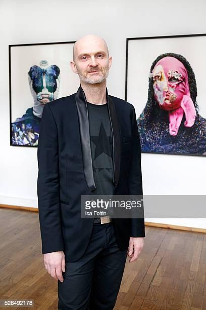 Photo artist Axel Hoedt at 'Der Berliner Fotografie Salon Edition 1' on April 29 2016 in Berlin Germany
