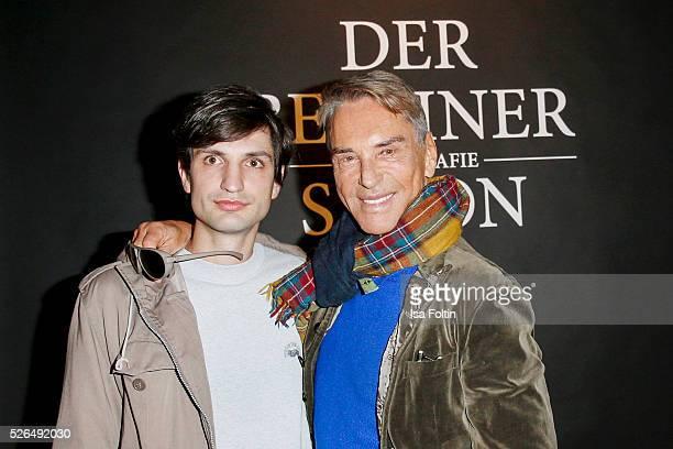 Photo artist Max von Gumppenberg and designer Wolfgang Joop at 'Der Berliner Fotografie Salon Edition 1' on April 29 2016 in Berlin Germany