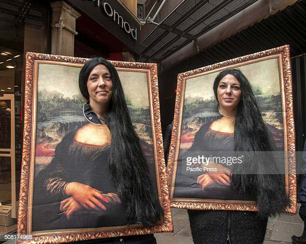 A photo booth of the famous Mona Lisa during the Venice Carnival Venice Carnival is the oldest and most internationally known celebration in Venice...
