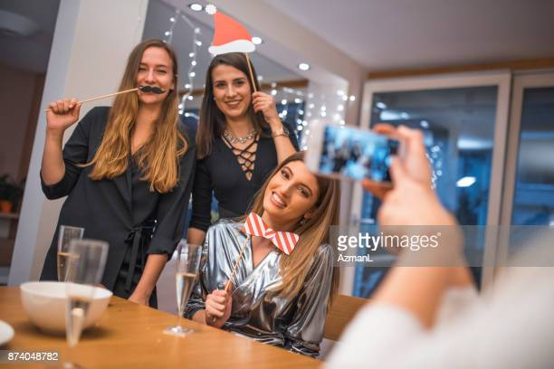 photo booth on new year's eve - prop stock pictures, royalty-free photos & images