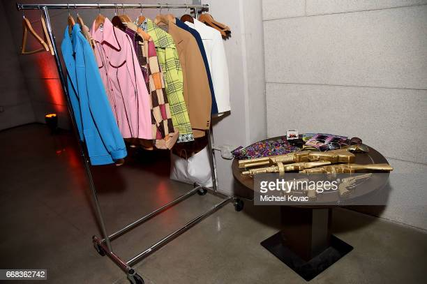 Photo booth props on display at the after party for The Los Angeles Premiere Of 'Free Fire' Presented By Casa Noble Tequila on April 13 2017 in Los...