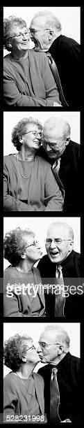 Photo Booth Strip of Senior Couple