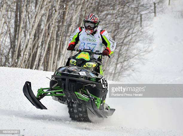 Photo by Gordon Chibroski Staff Photographer Saturday December 12 2009 Action and features at Snowmobile Uphill Race 2010 at Black Mountain of Maine...