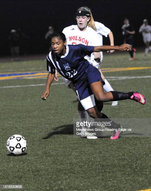 Photo by Harold Hoch - GSOCC Berks final - The Berks County Girls Soccer Championship had the Conrad Weiser Scouts defeat the Wilson Bulldogs 1-0 in...