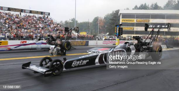 Photo by Harold Hoch - Maple Grove Eliminations - Top Fuel champion Shawn Langdon.