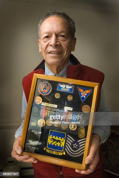 Photo by John Ewing/Staff Photographer Thursday January 15 2009 James Sheppard of South Portland was an original member of the famed Tuskegee Airmen...