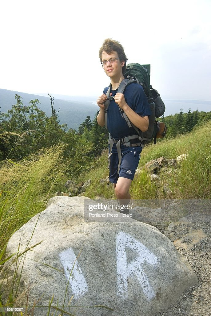 Drew Mintz, 18, is hiking the Appalachian Trail this summer after graduating from high school in Ju : News Photo
