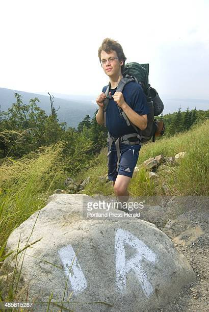 Photo by John Ewing/Staff Photographer Wednesday July 29 2009 Drew Mintz is hiking the Appalachian Trail this summer after graduating from high...