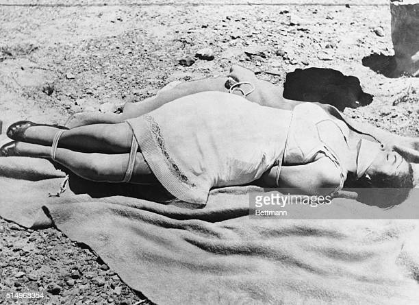Photo By Killer San Diego California This photo showing bound and gagged Los Angeles model Ruth Mercado lying in the desert was offered in evidence...