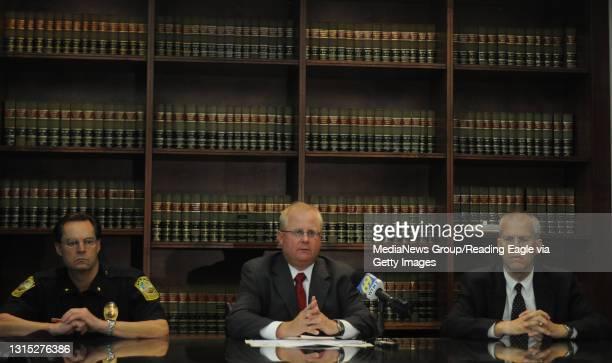 Photo by Lauren A. Little September 22, 2009 Bitler Murder Press Conference Police Chief William M. Heim, DA John T. Adams, and detective Harold T....