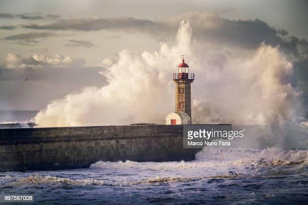 photo by: marco nuno faria - leuchtturm sturm stock-fotos und bilder