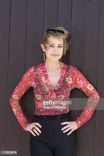 Photo Call Fanny Cottencon Michel Duchaussoy Jean Michel Noirey At Djerba Tv Festival On April 27Th 2006 In Island Of Djerba Tunisia Here Fanny...