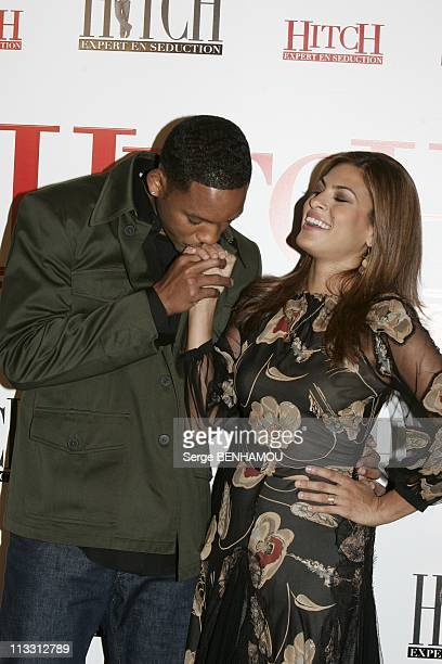 Photo Call For The Film 'Hitch' With Will Smith On February 28Th 2005 In Paris France Will Smith And Eva Mendes