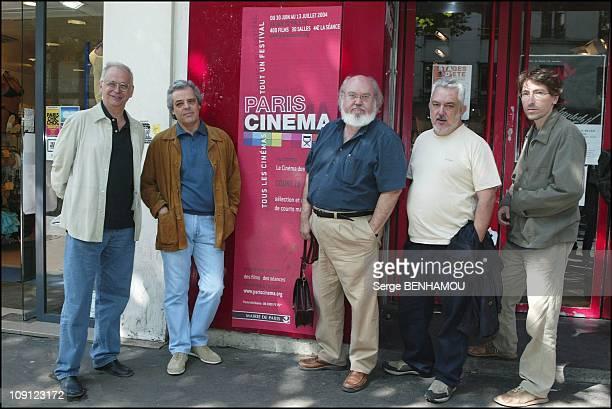 Photo Call For The Picture Hay Motivo On July 5 2004 In Paris France Diego Galan Andres Santana Jose Luis Cuerda Imanol Uribe David Trueba