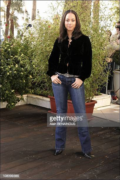 Photo call of Alicia Keys Midem 2005 in Cannes France on January 22 2005