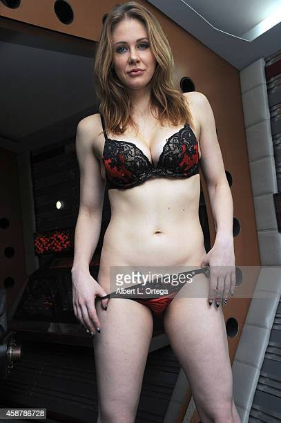 Photo call Preproduction shoot with actress Maitland Ward staring in Descent Into The Maelstrom on set at Morphius Studios on November 10 2014 in...