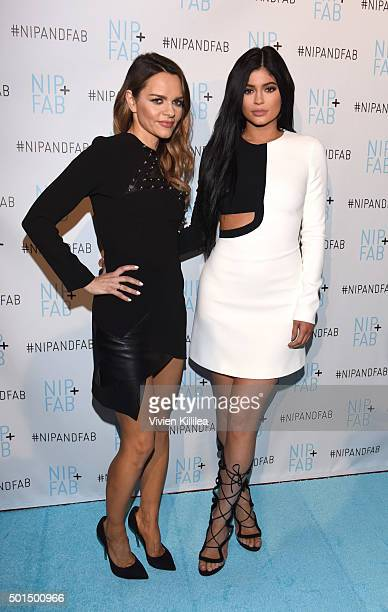 Photo Call with NIPFAB President and Founder Maria Hatzistefanis and Kylie Jenner on December 15 2015 in Los Angeles California