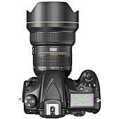 DSLR photo camera, top view