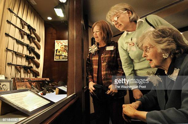 A photo caption accompanying a March 22 Style article about a museum exhibition of Thompson submachine guns misidentified a granddaughter of the...