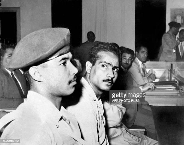 Photo d'archives datée du 12 novembre 1956 de Mahmoud Abdel Latif, membre de la confrérie des Frères Musulmans, auteur de la tentative d'assassinat...