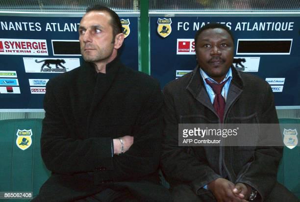 'LIGUE1 NANTES DER ZAKARIANNDORAM LE FEU ET LA GLACE EN TANDEM' Photo datant du 25 février 2007 à Nantes des deux entraîneurs du FC Nantes Michel Der...