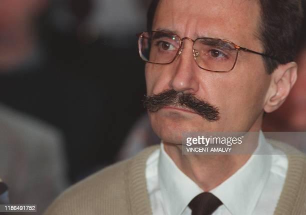 Photo datée du 03 mai 1993 de l'ancien directeur du Centre national de transfusion sanguine Michel Garretta lors de la première audience du procès en...