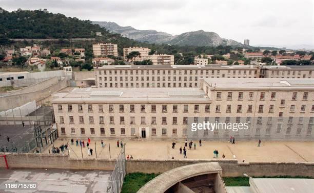 Photo datée du 20 avril 1990 de la prison des Baumettes à Marseille Plusieurs détenus se sont évadés par hélicoptère le 26 Juin 1999 du centre...