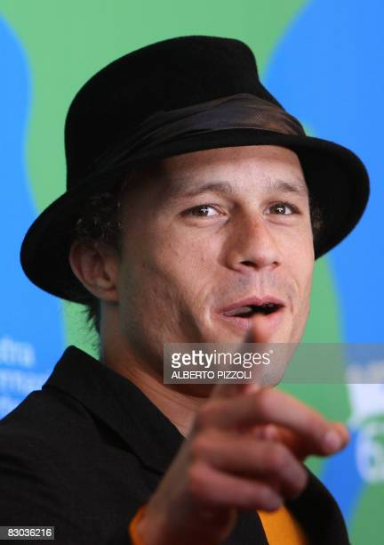 Photo dated 04 September 2007 shows US actor Heath Ledger at a photocall for I'm not there during the 64th Venice International Film Festival at...