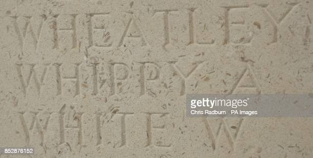 Photo dated 06/11/13 of Albert Whippy's name on the memorial at Le Touret in France France